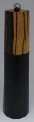 Pfeffermühle Ebenholz / Black & White Ebony ca. 18,5 cm