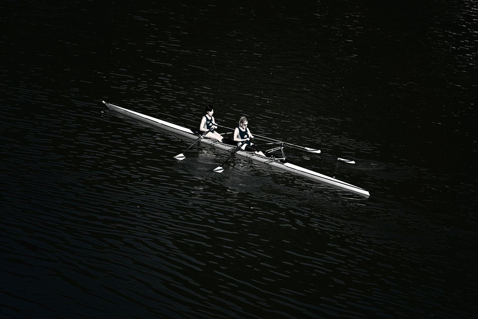 Rudersport auf dem Tiber