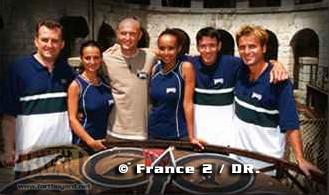 Mon deuxème fort Boyard avec une équipe fort sympathique, Betty et Frank LEBOEUF, Sonia ROLLAND et Fabrice SANTORO.