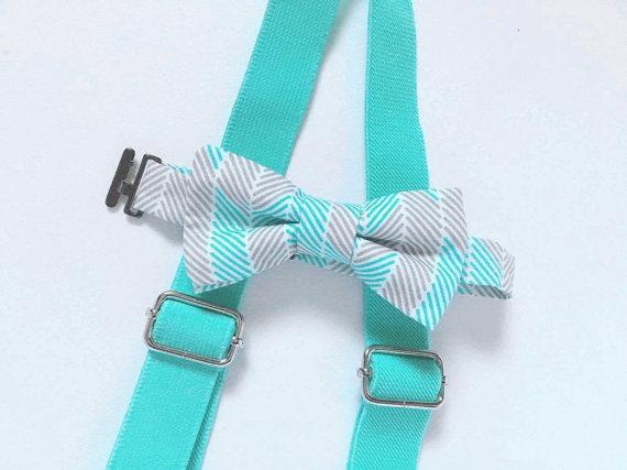 Ensemble bretelles + noeud papillon pour bébé