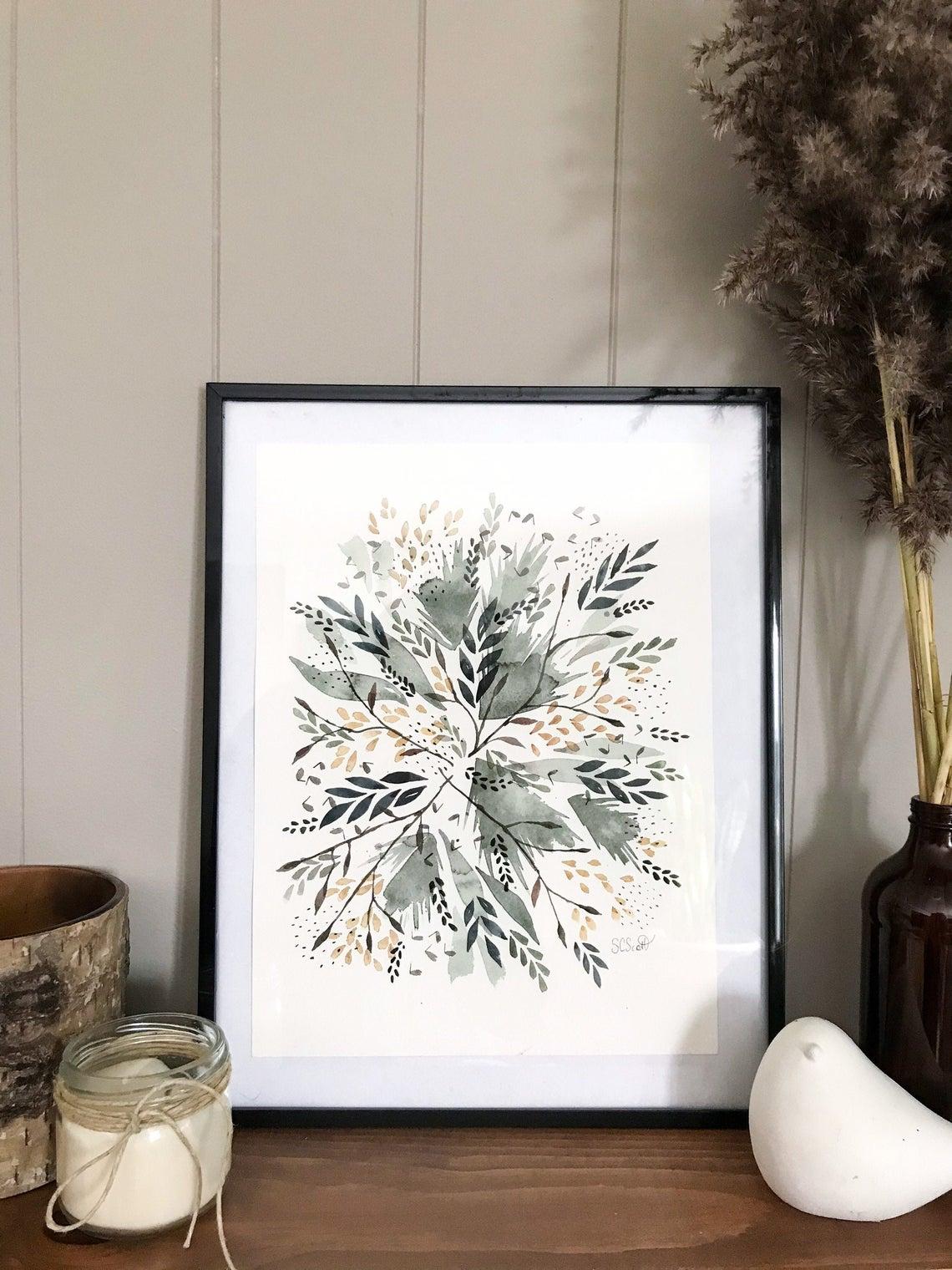 Paysage abstrait hivernal