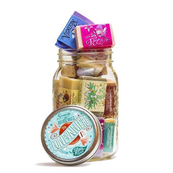 Bonbonnière de mini savons (Cliquez pour plus d'informations!)