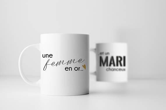 Duo de tasses Mari et Femme