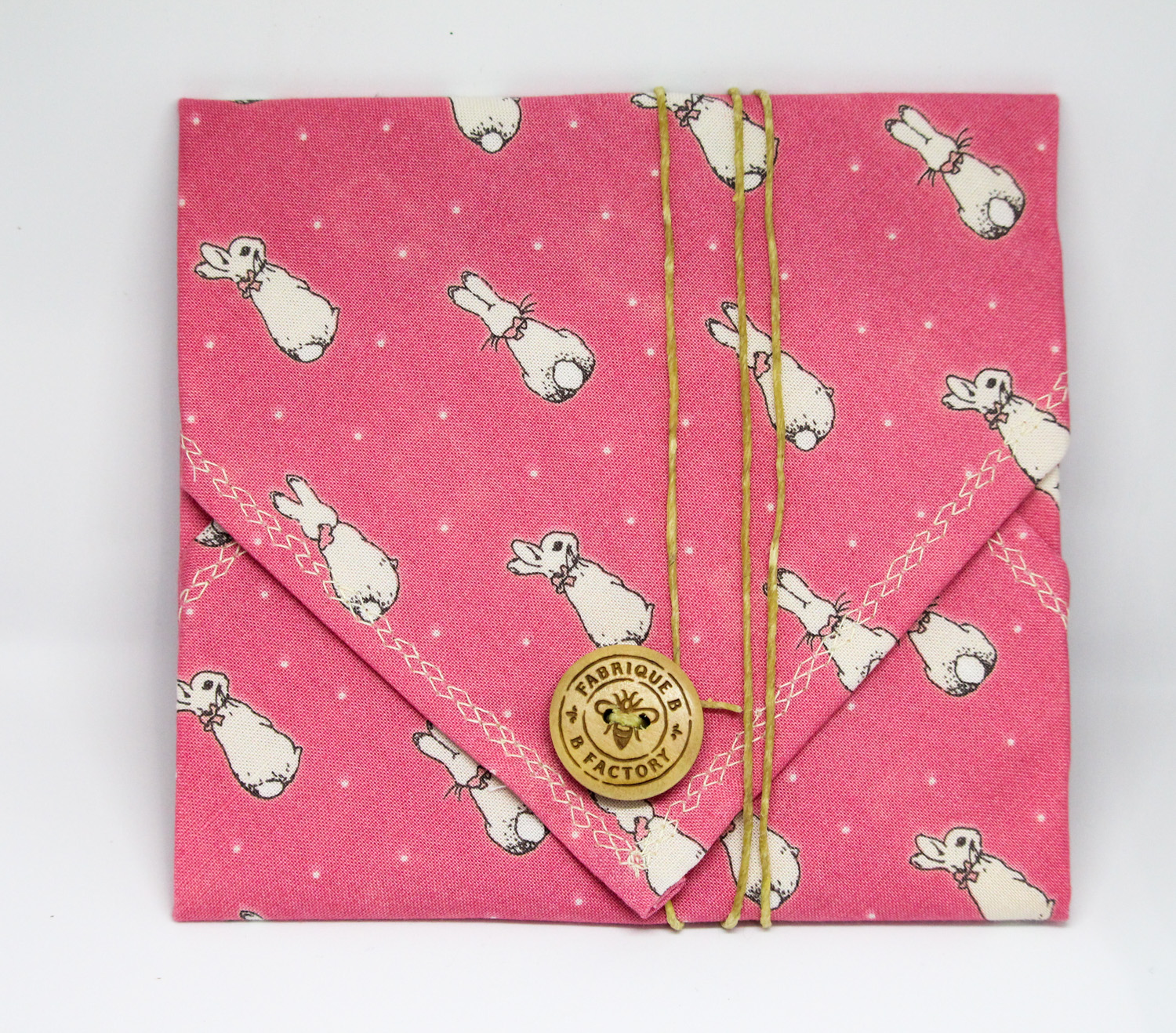 Beeswax sandwich wrap - Pink bunny