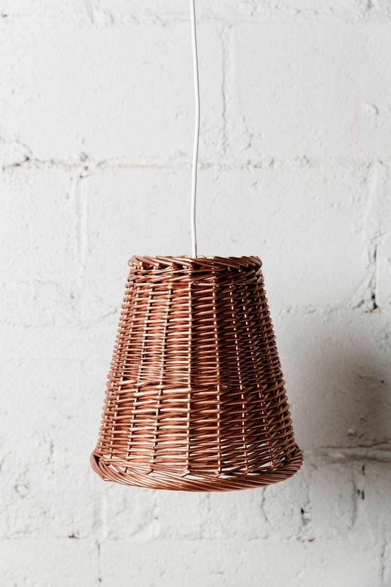 Lampe à abat jour recyclé