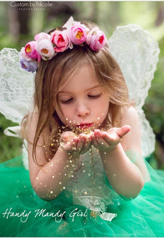 Ailes de fée et couronne florale