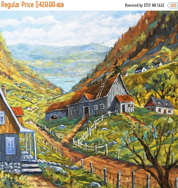 Toile d'une vallée de Charlevoix, réalisée à l'huile par PrankePaintings