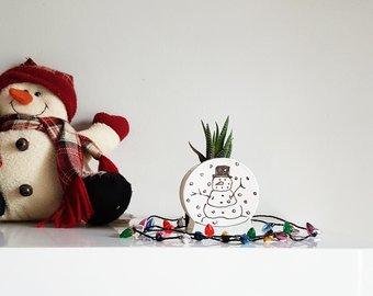 Julie richard céramique, céramique, bonhomme de neige, enseignant, éducatrice, cadeau