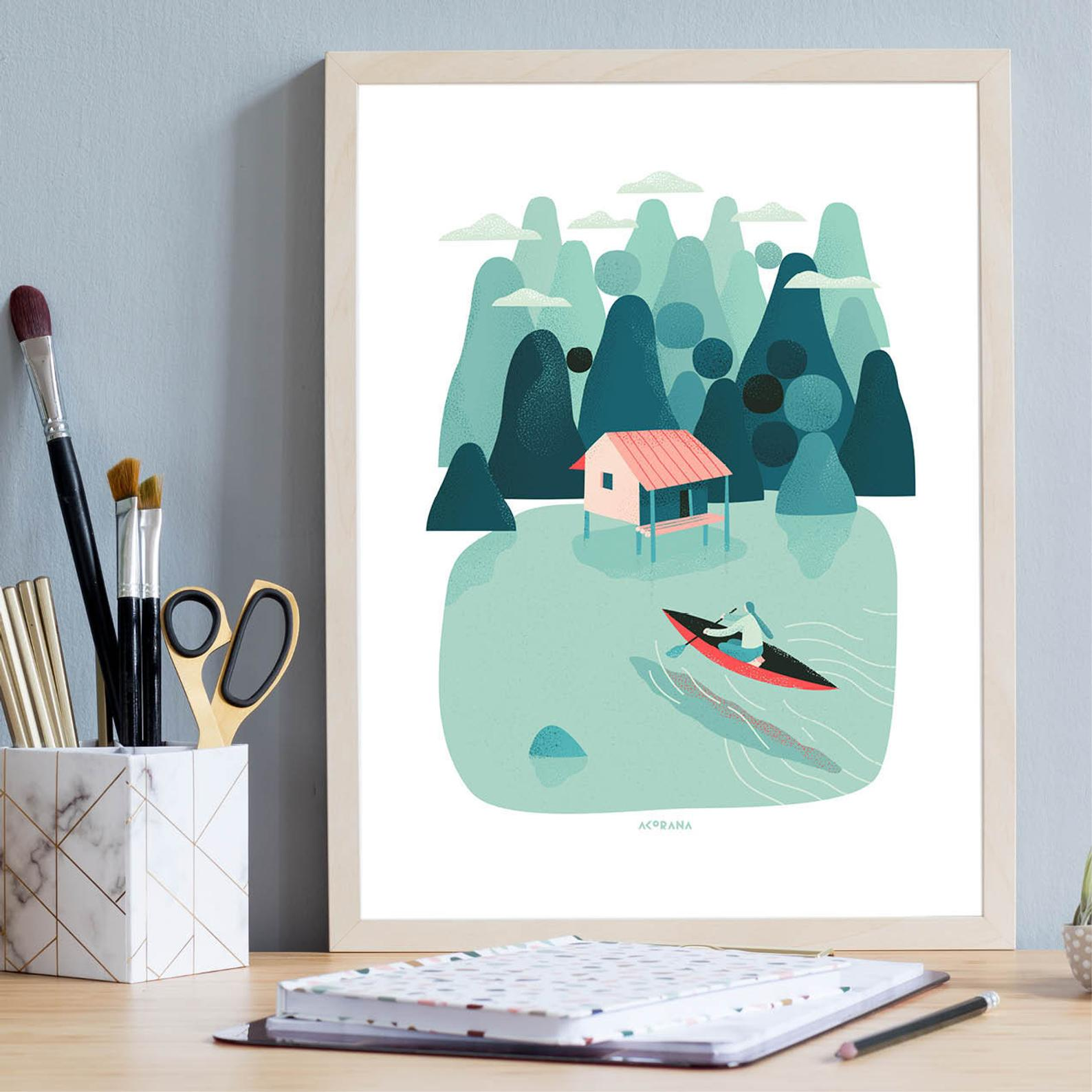 Sailing on silence poster