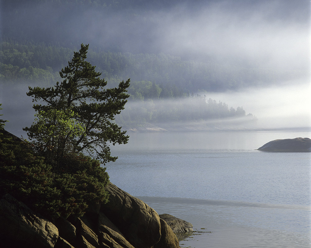 Photo de la brume du matin sur Baie-De-Rochers, capturée par CB1Visions
