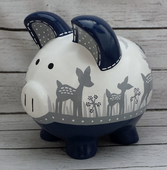 piggy bank money kids decoration
