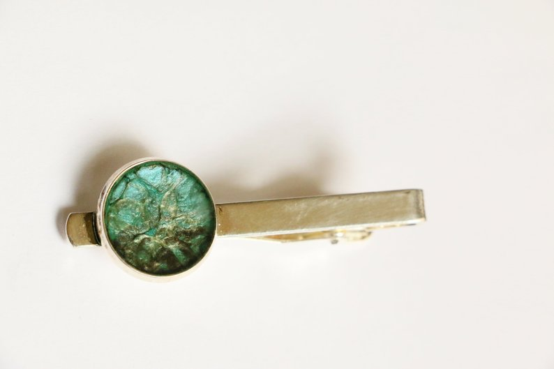 Turquoise tie clip - Créations MLM