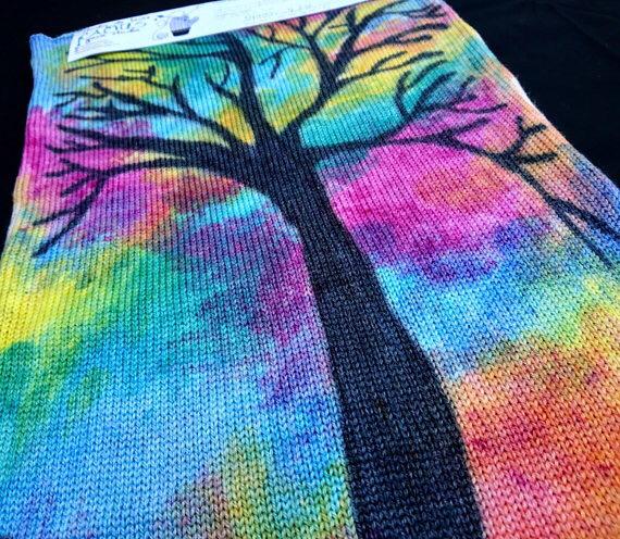 Tissus à tricoter colorés