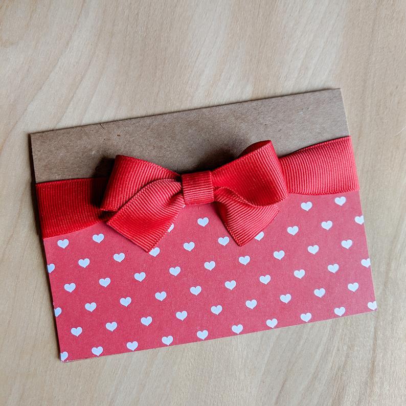 Carte ruban Saint-Valentin, Les Coloriés, 5$