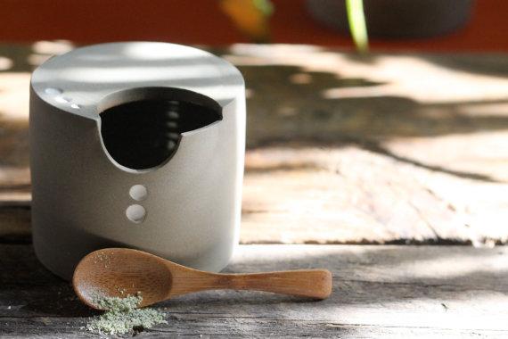 M-C Girard céramiste, Céramique, Fait main au Québec, Pot à sel