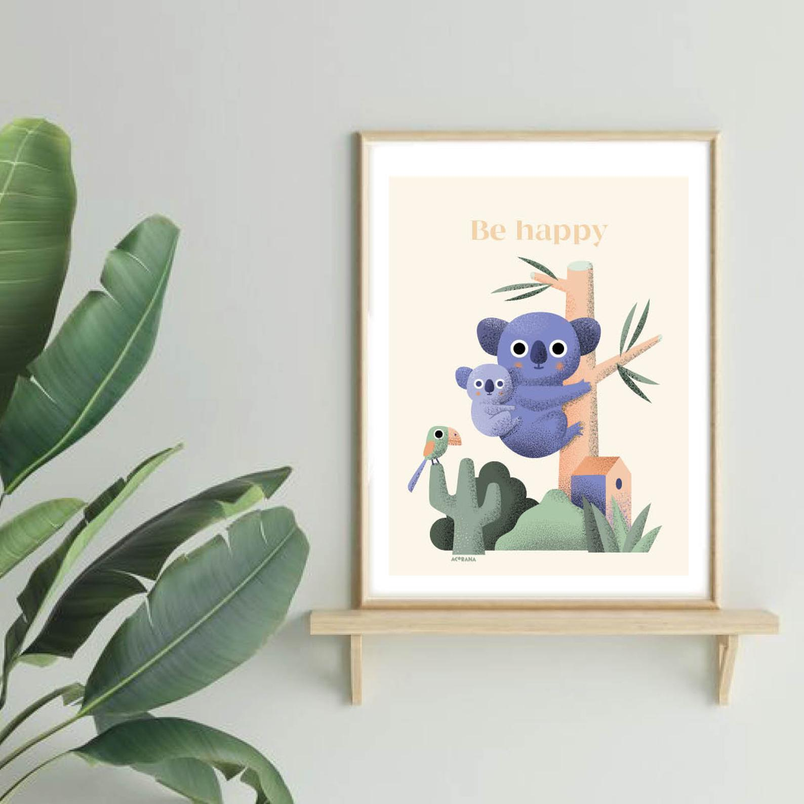 Illustration : ''Be happy''