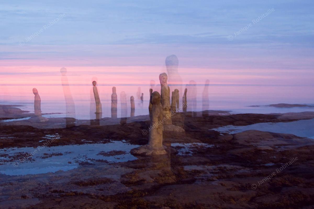 Création photographique de l'oeuvre Le Grand Rassemblement, conçue par JaniqueRobitaille