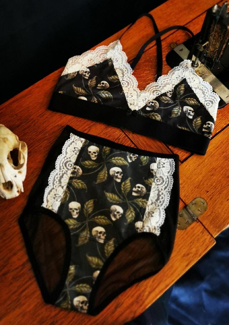 Ensemble de lingerie 'Squelettes végétaux', Miss Chikabloom, 92$
