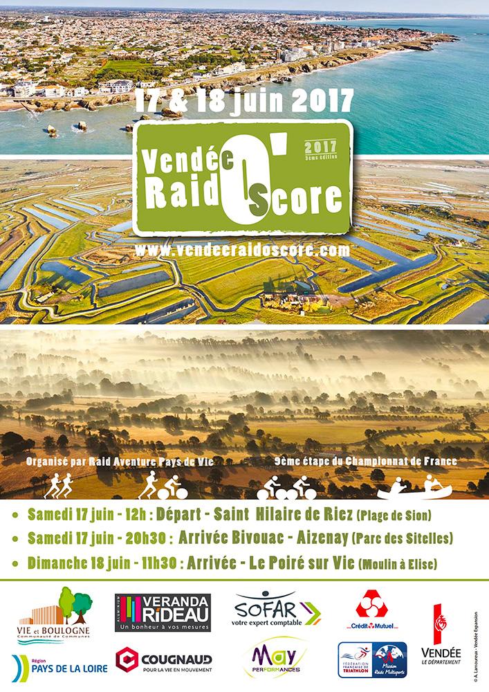 L'affiche officielle du Vendée Raid O'Score 2017
