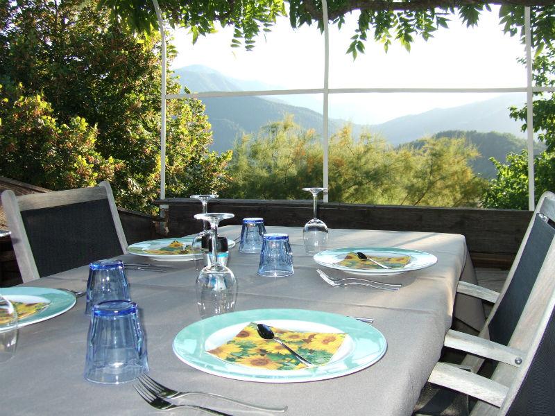 table d'hôtes met uitzicht
