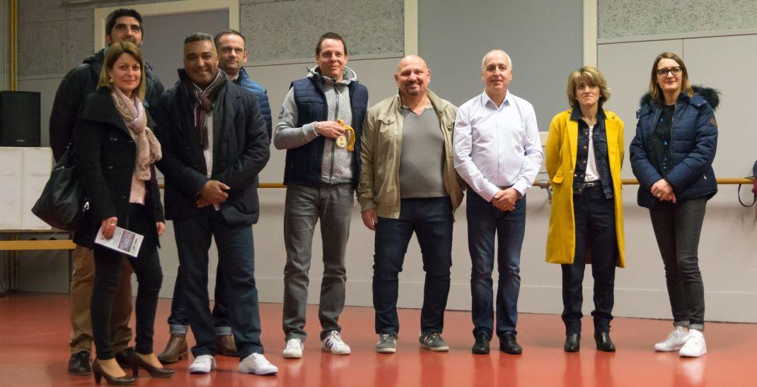 Les partenaires de la JA Isle Handball présents lors de la soirée du 3 mars 2018