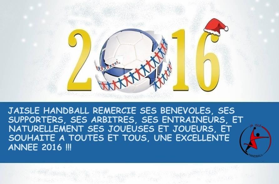 JA ISLE HANDBALL : Bonne année 2016