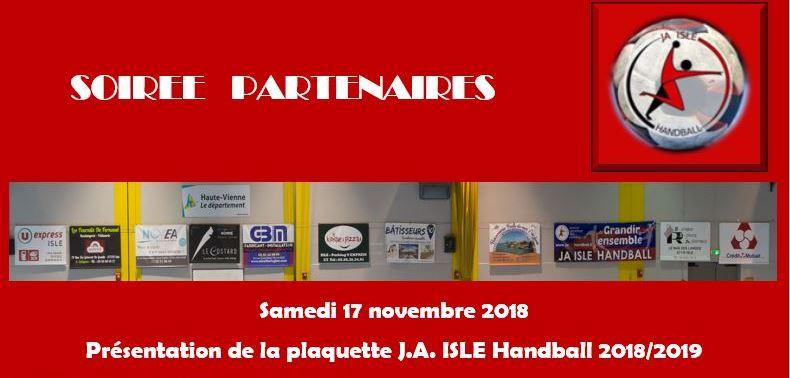 Soirée partenaires du 17 novembre 2018