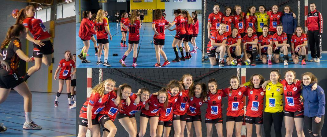 2018 rencontre entre les -15 ans filles JA Isle Handball contre ROC ASSJ