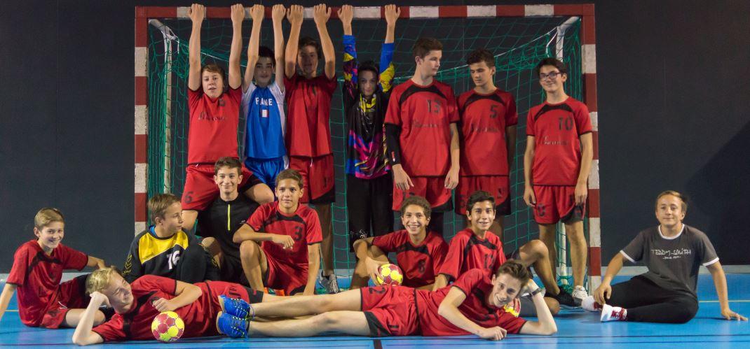 L'équipe des -15 ans garçons de la JA Isle Handball