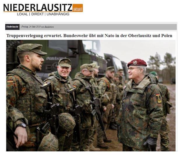 24.05.2019 - Niederlausitz: Truppenverlegung erwartet. Bundeswehr übt mit Nato in der Oberlausitz und Polen