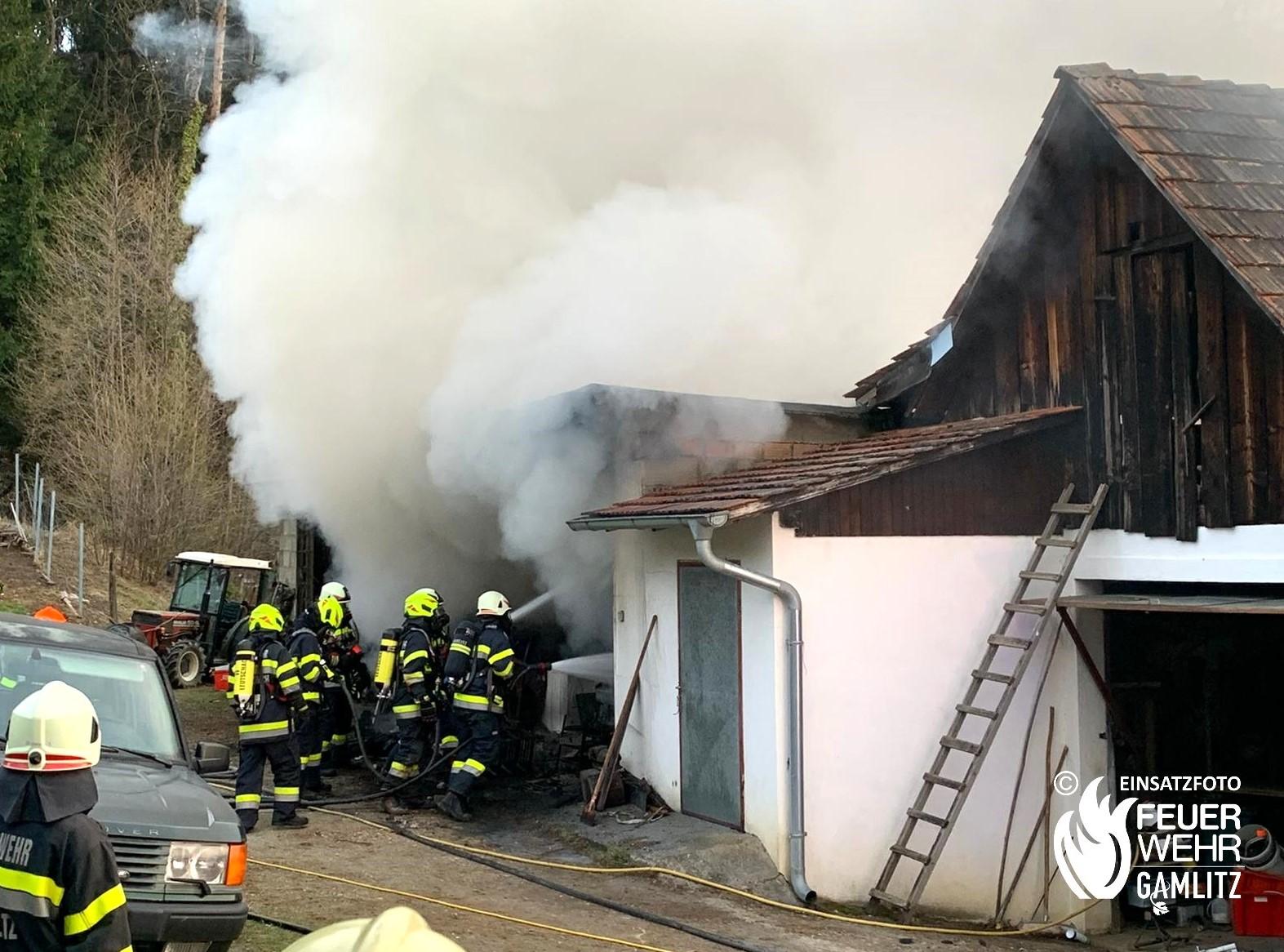 Wirtschaftsgebäudebrand in Steinbach