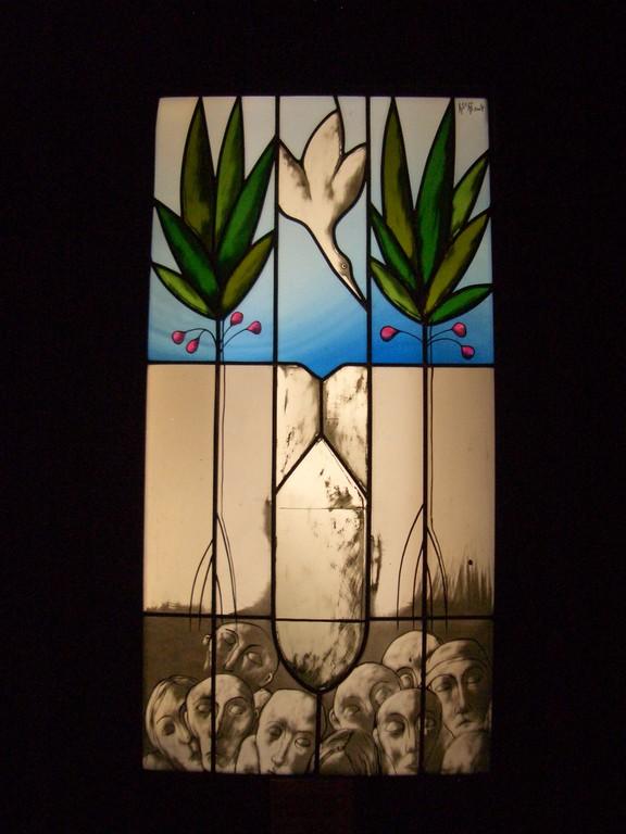 Glaseinsatz einer Türe