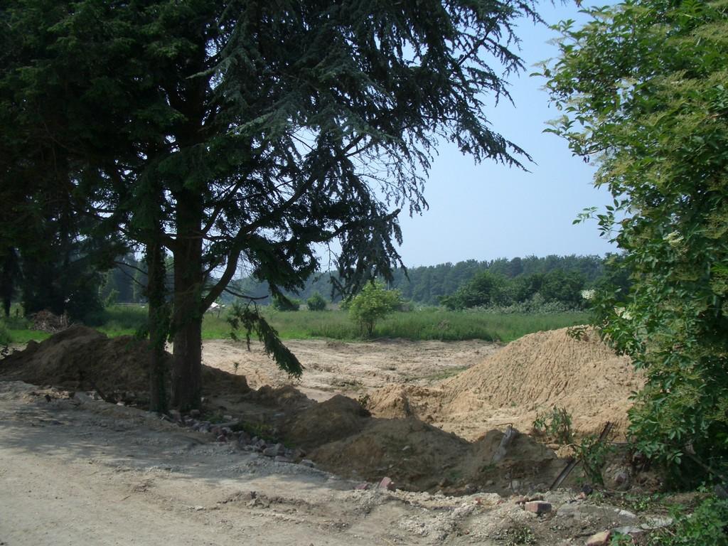 Dort war der Friedhof von Holz