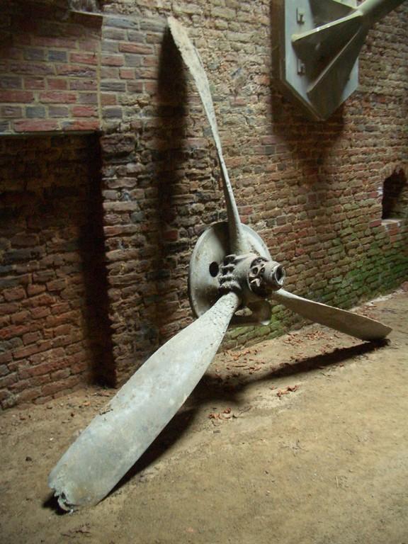 Fundstücke im den Kasematten - Propeller aus dem 2.Weltkrieg -