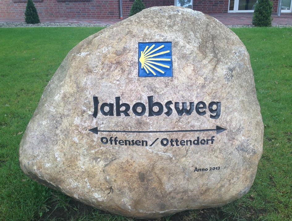 Findling in Heeslingen Jakobsweg