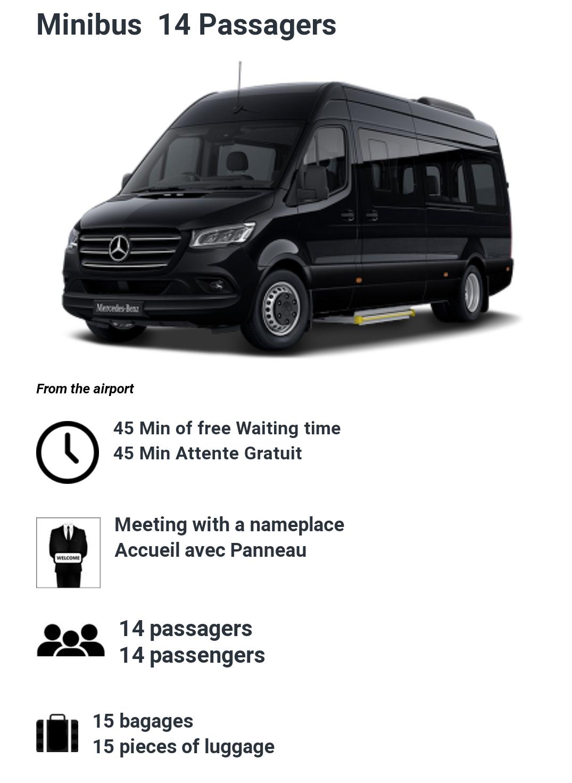 14 Passenger minibus