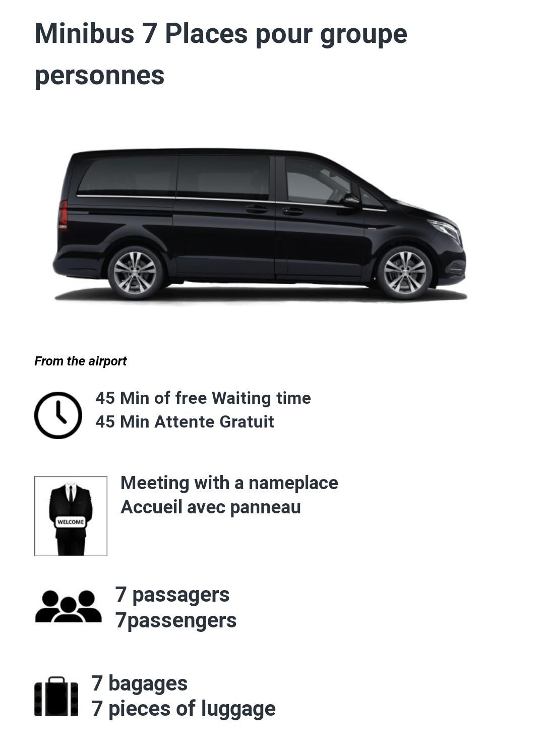 7 Passenger minibus