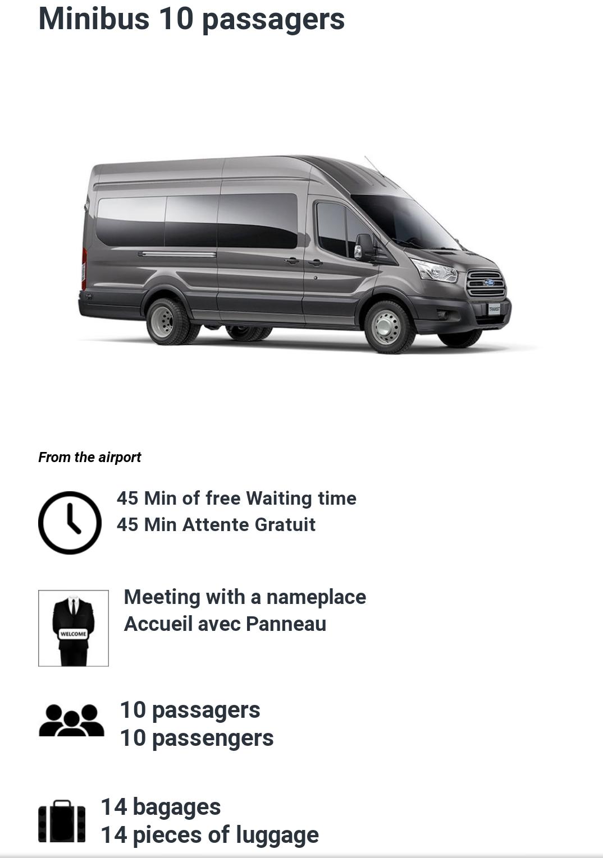 10 Passenger minibus