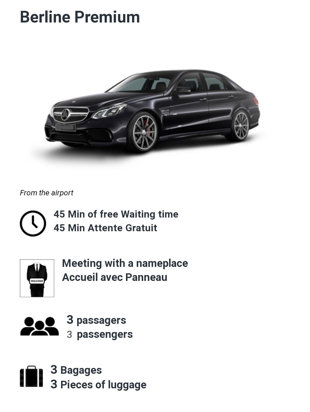 3 Passenger luxury car