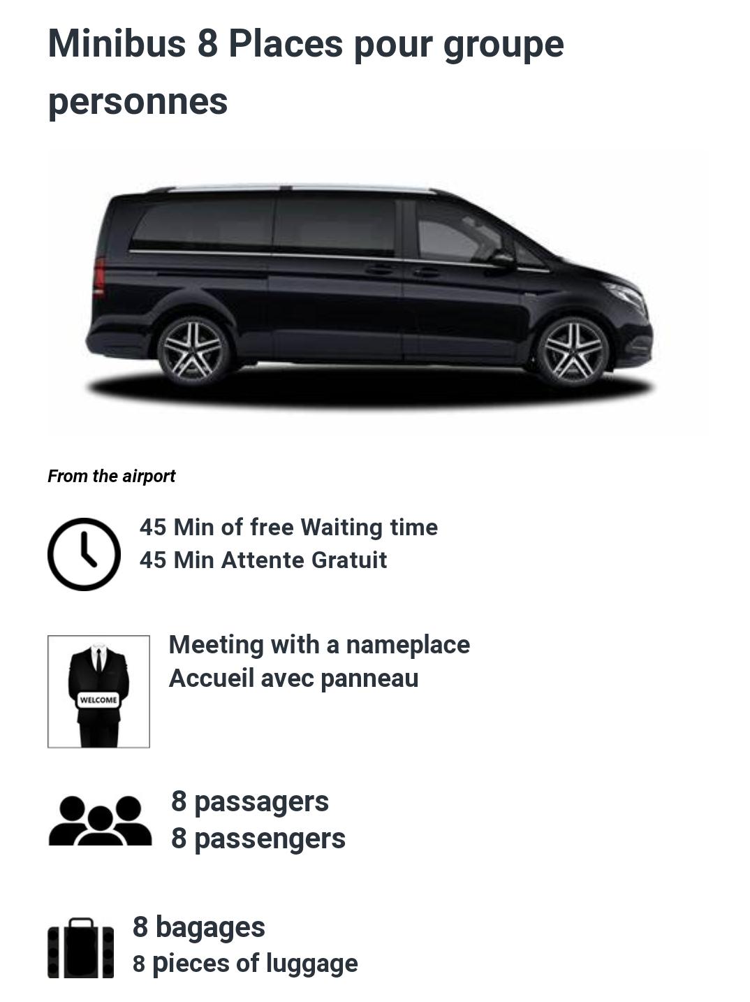 8 Passenger minibus