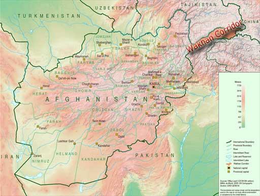 Tajikistan, Afghanistan. The Wakhan Corridor