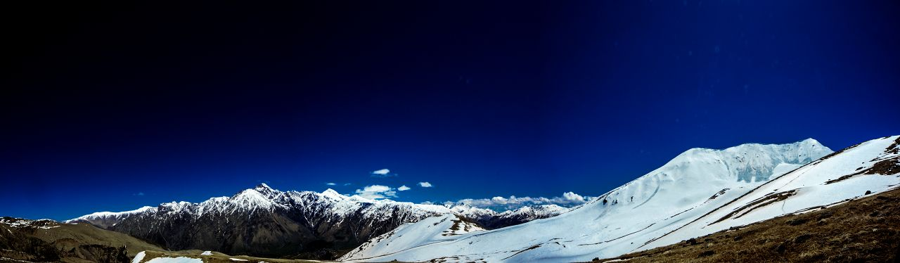 An stunning panoramic view of the Caucasian mountains