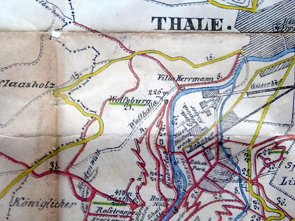 Lage des Gebietes bis 1920, dann wurde die Straße verlegt