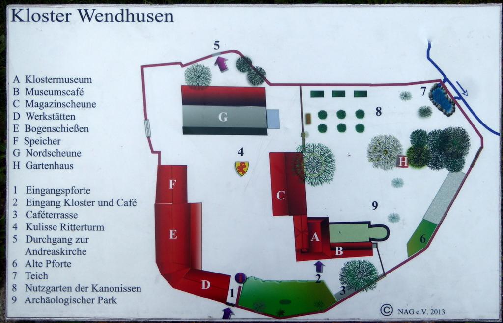 Lage des Klosters heute