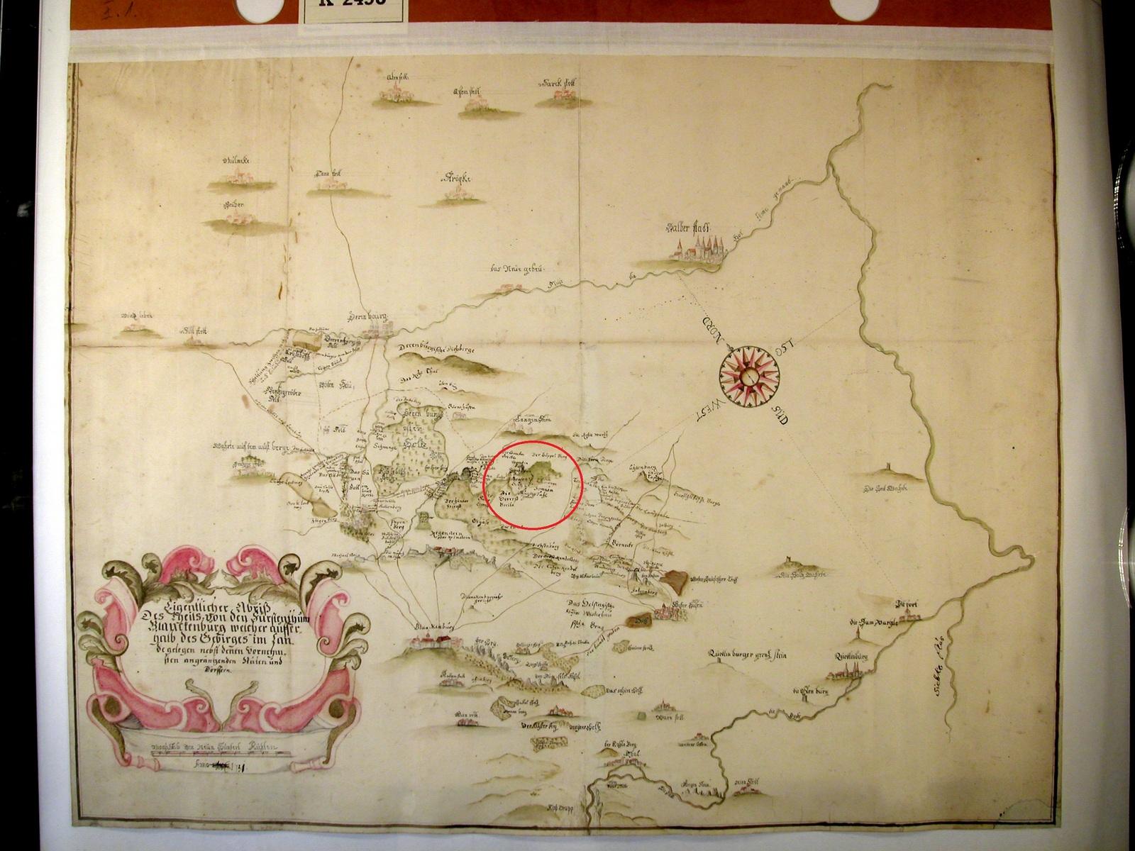 historische Karte mit dem Sonnental