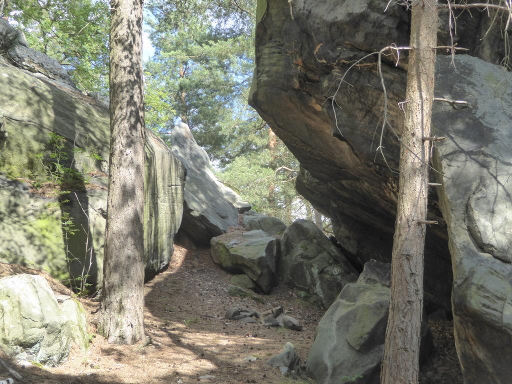 Ein Wetterüberhang der Steinschläger