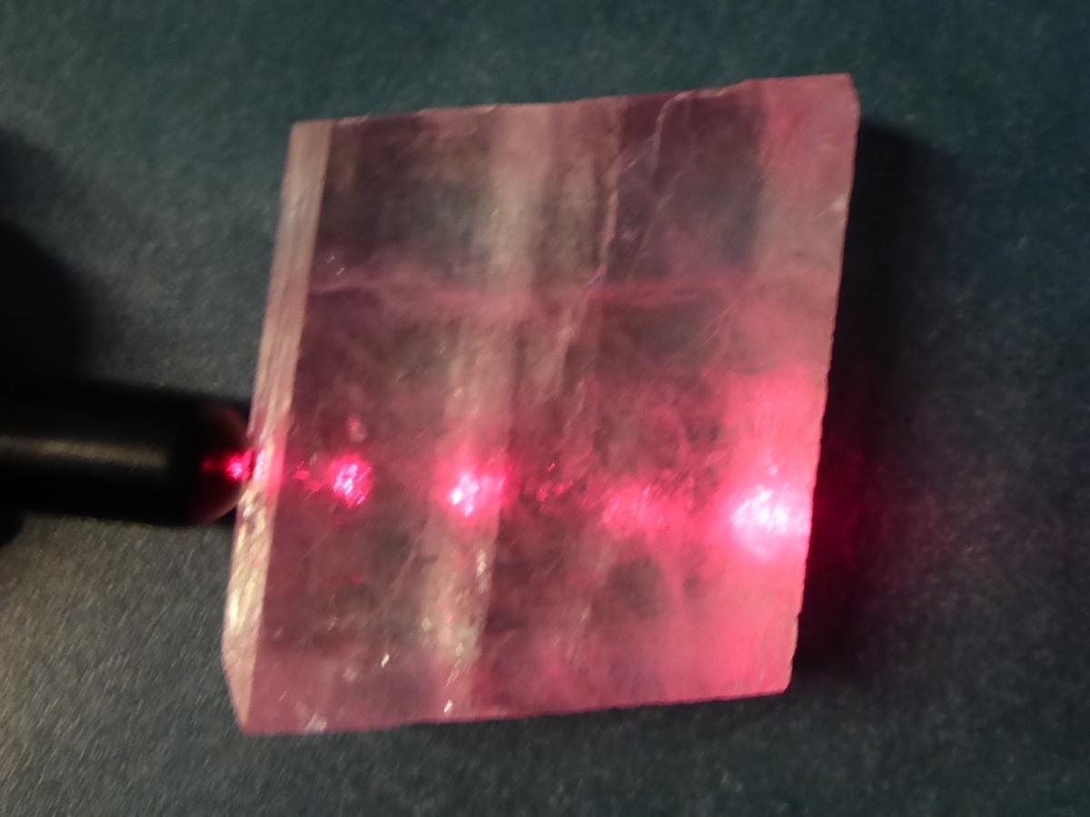 Die Lichtbrechung beim Laserpointer