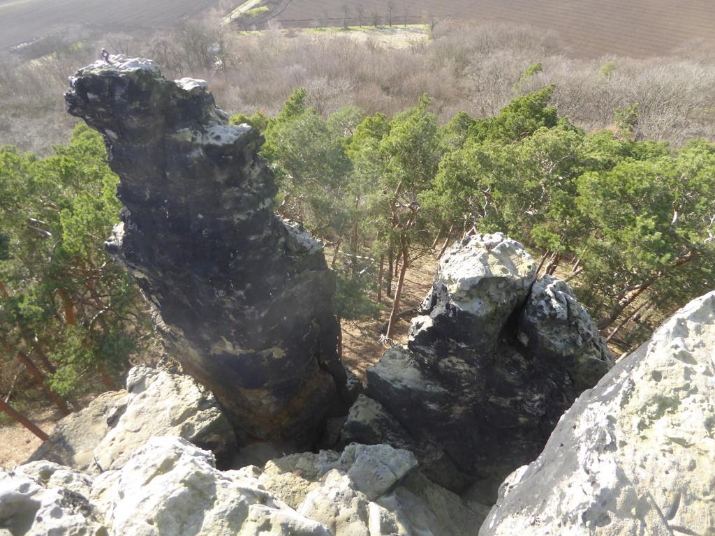 Blick von oben auf den Solofelsen
