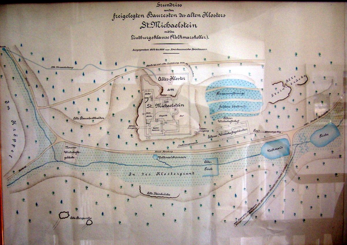 Brinkmannsche Karte der Grabung von 1884