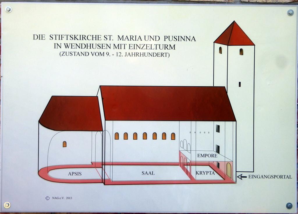 Skizze der Kirche